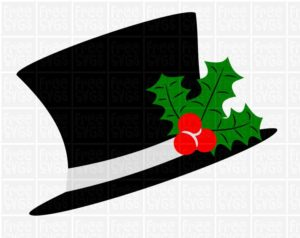 Christmas Top Hat FREE SVG file