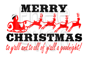Southern Merry Christmas Y'all Free SVG File