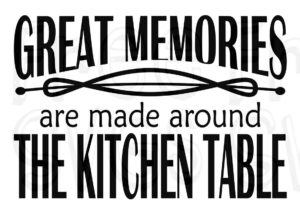 Great Memories Kitchen Sign Free Svg File