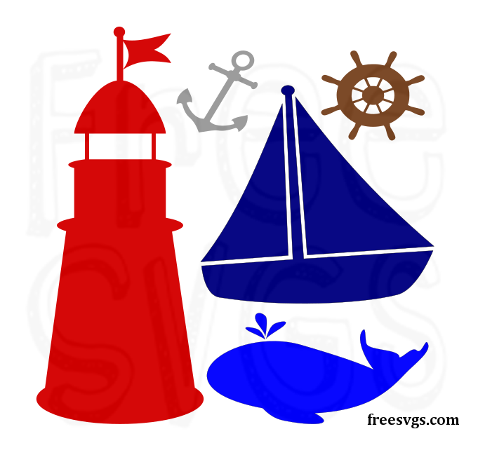 By The Sea Free Svg Nautical Set Free Svgs