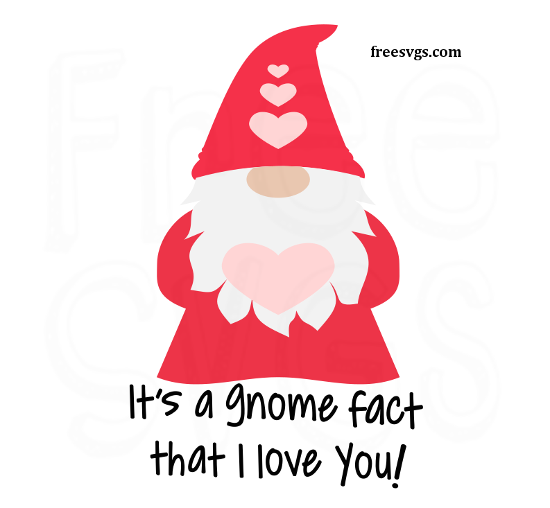 Download Free Valentine's Gnome SVG Cut File - Free SVGs